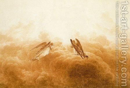 Angels in Adoration by Caspar David Friedrich - Reproduction Oil Painting