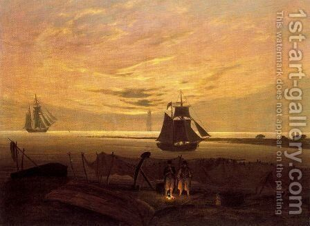 Evening on the Baltic Sea 2 by Caspar David Friedrich - Reproduction Oil Painting