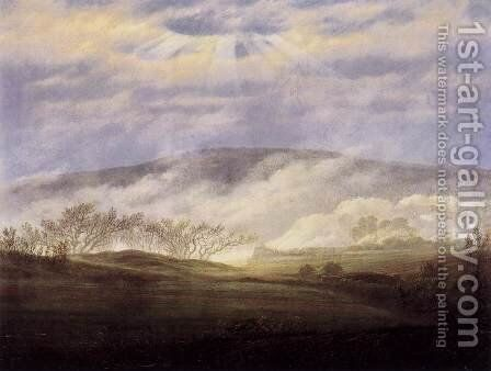 Fog in the Elbe Valley by Caspar David Friedrich - Reproduction Oil Painting