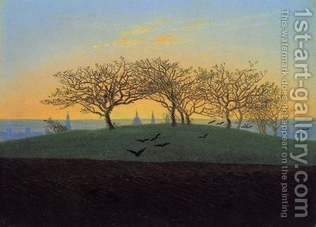 Hill and Ploughed Field near Dresden by Caspar David Friedrich - Reproduction Oil Painting