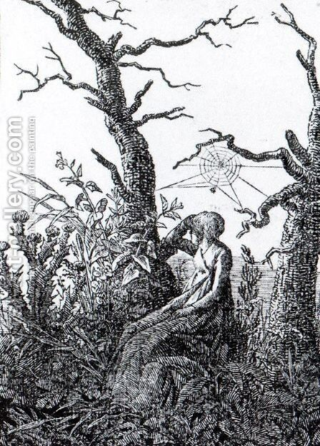 The Woman with the Cobweb by Caspar David Friedrich - Reproduction Oil Painting