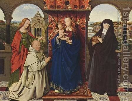 The Madonna with the Carthusians by Jan Van Eyck - Reproduction Oil Painting