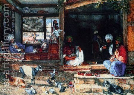 The Kibab Shop, Scutari, Asia Minor by John Frederick Lewis - Reproduction Oil Painting
