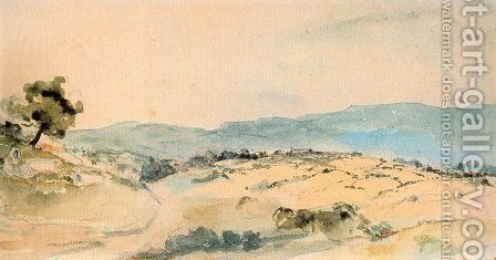 Moroccan Landscape near Tangiers by Eugene Delacroix - Reproduction Oil Painting