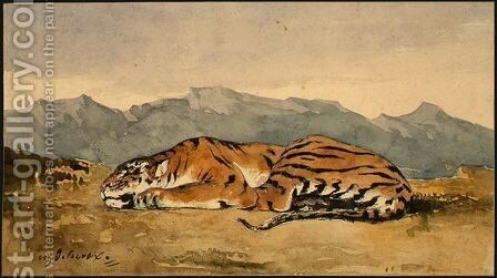 Tiger by Eugene Delacroix - Reproduction Oil Painting