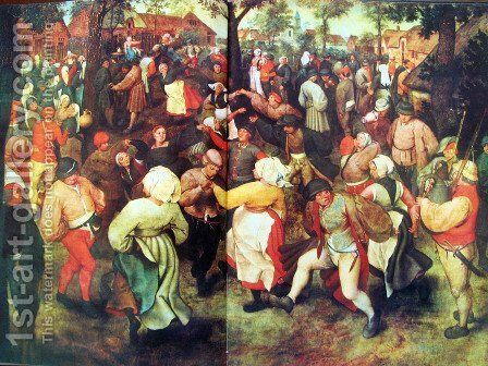 Bridal outdoors dance by Pieter the Elder Bruegel - Reproduction Oil Painting