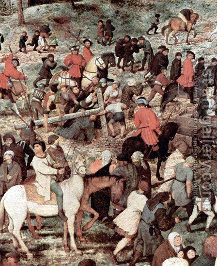Christ Carrying the Cross (detail 4) by Pieter the Elder Bruegel - Reproduction Oil Painting