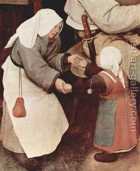 Farmers dance, Detail 3 by Pieter the Elder Bruegel - Reproduction Oil Painting