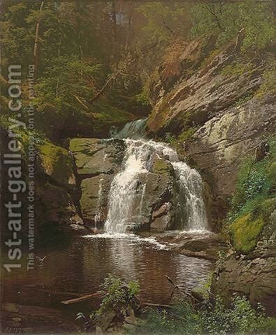 Buck Hill Falls by Herman Herzog - Reproduction Oil Painting