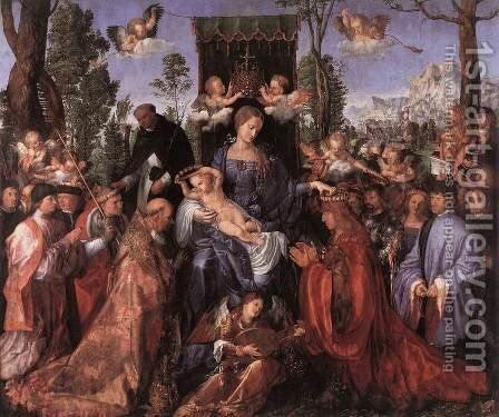 Feast of the Rose Garlands by Albrecht Durer - Reproduction Oil Painting