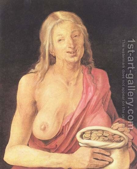 Old bags with money by Albrecht Durer - Reproduction Oil Painting