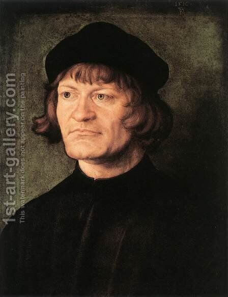 Portrait of a Cleric by Albrecht Durer - Reproduction Oil Painting