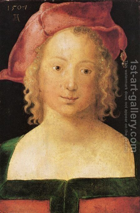Portrait of a Young Girl by Albrecht Durer - Reproduction Oil Painting