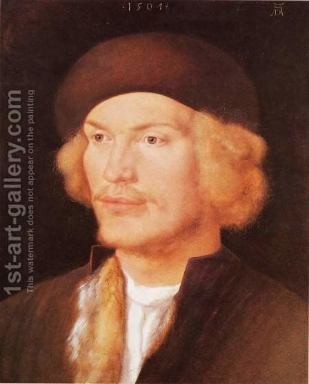 Portrait of a Young Man by Albrecht Durer - Reproduction Oil Painting