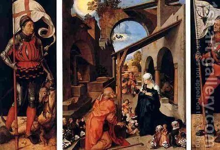 retable Paumgartner,munich by Albrecht Durer - Reproduction Oil Painting