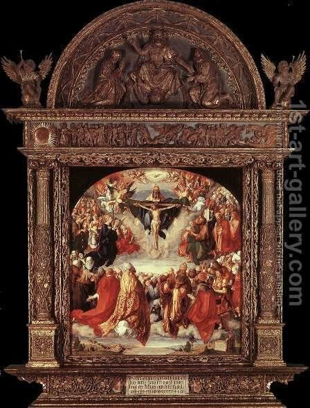 The Adoration of the Holy Trinity (Landauer Altar) by Albrecht Durer - Reproduction Oil Painting