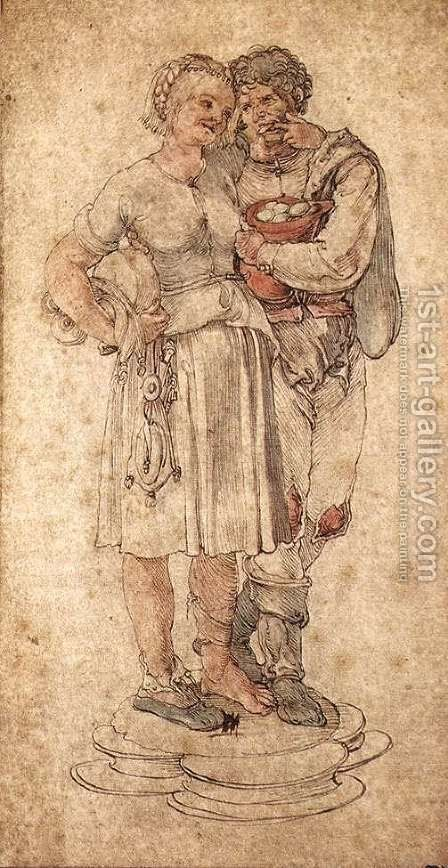 Amorous Peasants by Albrecht Durer - Reproduction Oil Painting