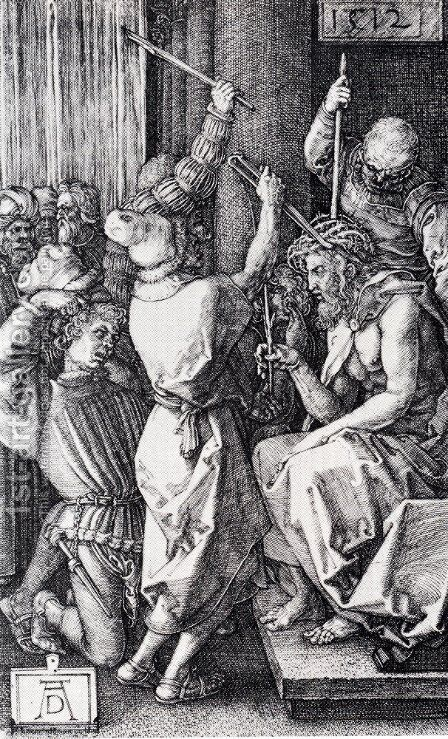 Christ Crowned with Thorns (No. 7) by Albrecht Durer - Reproduction Oil Painting