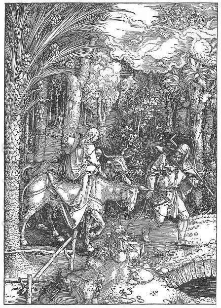 Life of the Virgin, 13. The Flight into Egypt by Albrecht Durer - Reproduction Oil Painting