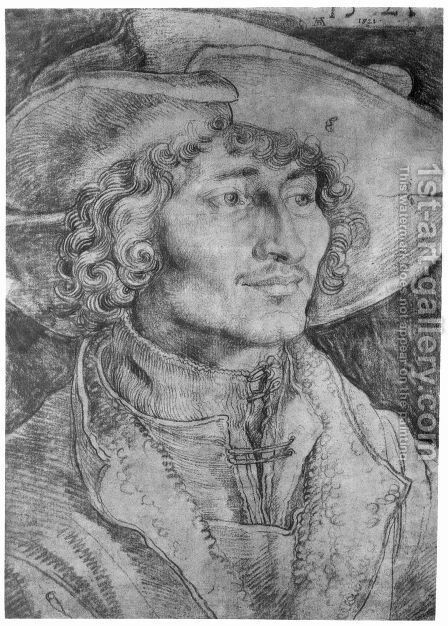 Portrait of a Young Man 3 by Albrecht Durer - Reproduction Oil Painting