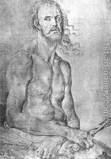 Self-Portrait as the Man of Sorrows by Albrecht Durer - Reproduction Oil Painting