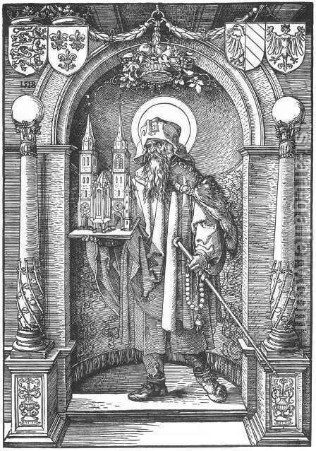 St Sebald in the Niche by Albrecht Durer - Reproduction Oil Painting