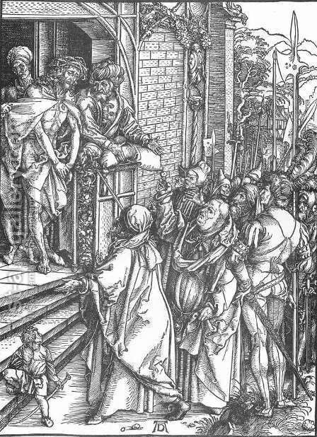 The Large Passion, 04. Ecce Homo by Albrecht Durer - Reproduction Oil Painting