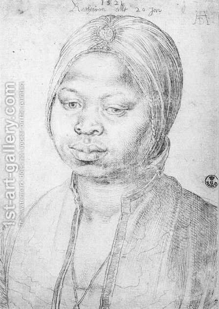 The Negress Katherina by Albrecht Durer - Reproduction Oil Painting