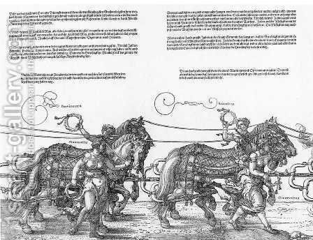 Triumphal Chariot (3-4) by Albrecht Durer - Reproduction Oil Painting