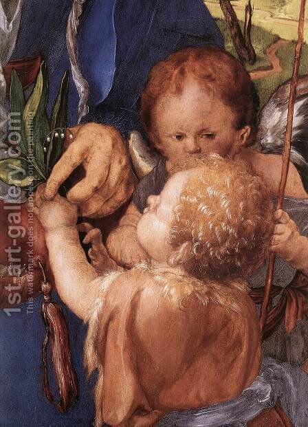 Madonna with the Siskin (detail 1) by Albrecht Durer - Reproduction Oil Painting
