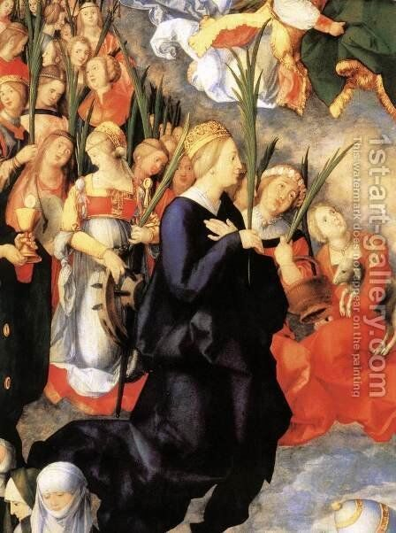 The Adoration of the Trinity (detail 1) by Albrecht Durer - Reproduction Oil Painting