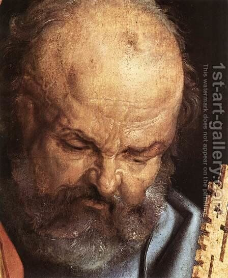 The Four Holy Men (detail 1) by Albrecht Durer - Reproduction Oil Painting