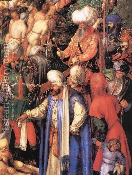 The Martyrdom of the Ten Thousand (detail 2) by Albrecht Durer - Reproduction Oil Painting