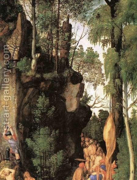 The Martyrdom of the Ten Thousand (detail 3) by Albrecht Durer - Reproduction Oil Painting