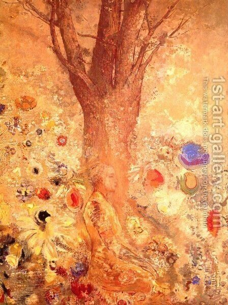 Buddha in His Youth by Odilon Redon - Reproduction Oil Painting