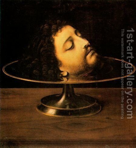 The head of St. John the Baptist by Andrea Solari - Reproduction Oil Painting