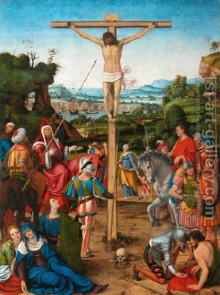 The Crucifixion by Andrea Solari - Reproduction Oil Painting