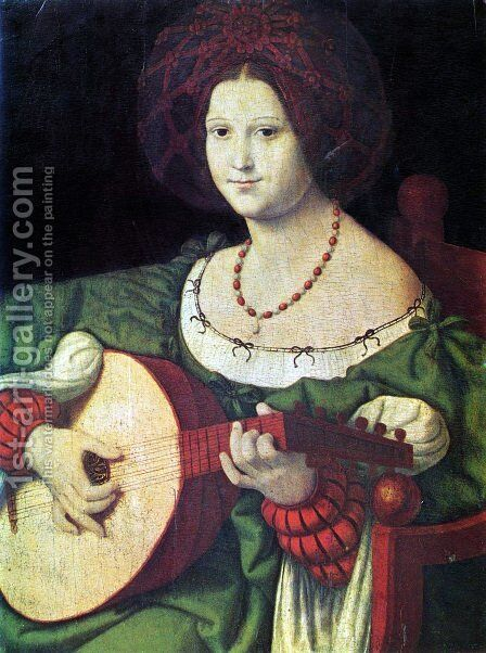 The Lute Player by Andrea Solari - Reproduction Oil Painting