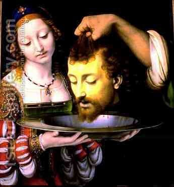 Salome with Head of John the Baptist by Andrea Solari - Reproduction Oil Painting