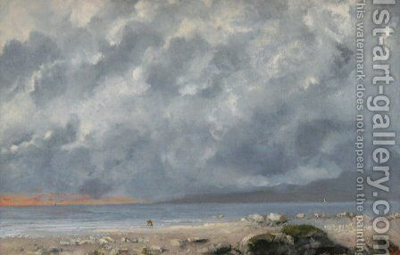 Beach Scene by Gustave Courbet - Reproduction Oil Painting