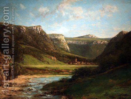 Landscape in the Jura by Gustave Courbet - Reproduction Oil Painting