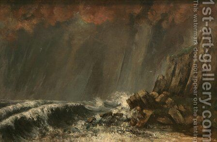 Marine, The Waterspout by Gustave Courbet - Reproduction Oil Painting