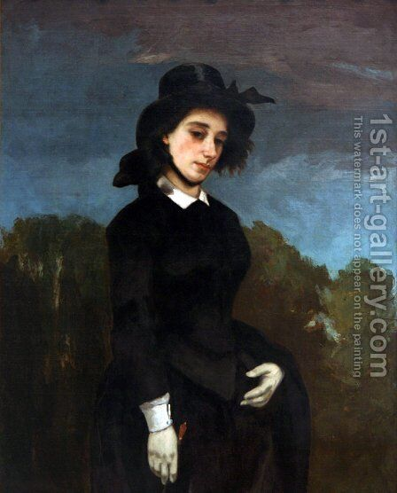 Woman in a Riding Habit by Gustave Courbet - Reproduction Oil Painting
