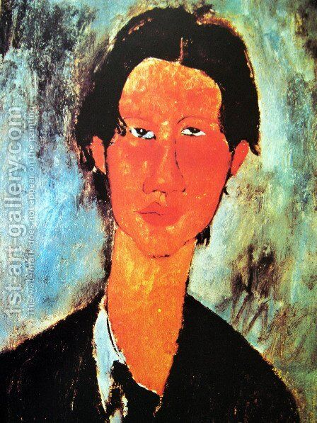 Portrait of Chaim Soutine (detail) by Amedeo Modigliani - Reproduction Oil Painting