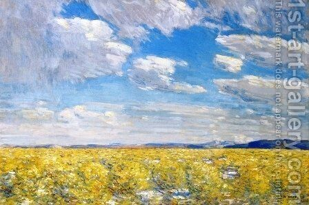 Afternoon Sky, Harney Desert by Childe Hassam - Reproduction Oil Painting