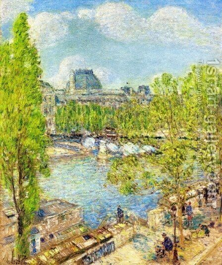 April, Quai Voltaire, Paris by Childe Hassam - Reproduction Oil Painting