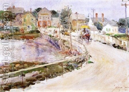 At Gloucester by Childe Hassam - Reproduction Oil Painting