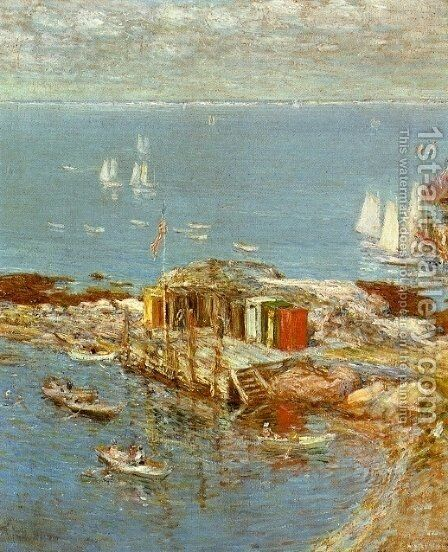 August Afternoon, Appledore by Childe Hassam - Reproduction Oil Painting
