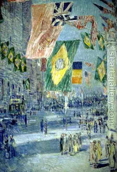 Avenue of the Allies, Brazil by Childe Hassam - Reproduction Oil Painting