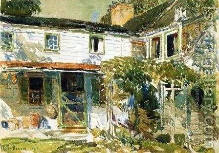 Back of the Old House by Childe Hassam - Reproduction Oil Painting